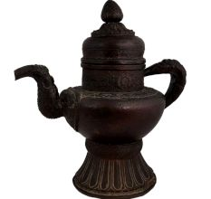 Copper Persian Design Tea Pot With Dragon Handle And Spout