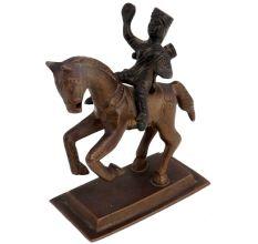 Brass Rani Laxmibai On Horse Statue