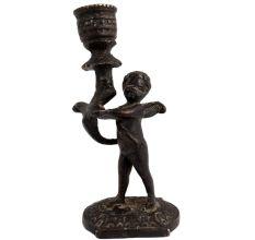 Brass Cherub Holding Candlestick Christmas Decoration