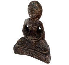 Brass Meditating Buddha Statue And Dorje Vajra
