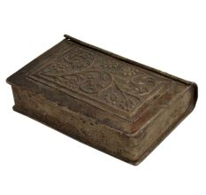 Floral Design White Metal Storage Betel Nut Box