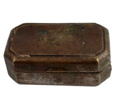 Brass Old Storage Box Snuff Box