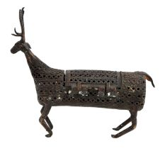 Brass Tribal Deer With Jail Design And Tiny Box