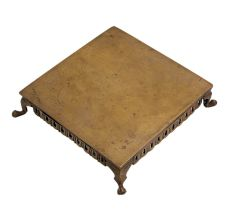 Brass Colonial Style Low Height Square Table