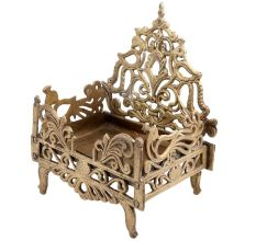 Brass Krishna Bed Singhasan From Banaras