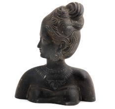 Brass Lady Bust Wall Hanging Home Decoration