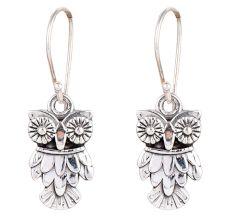 Fashionable Owl Halloween 92.5 Sterling Silver Earrings