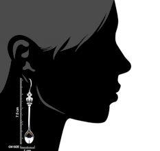 Mini Cutlery 92.5 Sterling Silver Earrings in Spoon and Folk