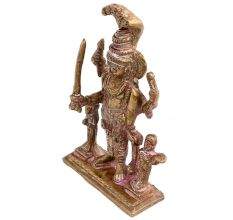 Brass Statue Of Lord Vishnu Avatar With Sheshnag
