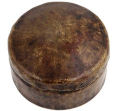 Round Brass Vintage Hammered Design Box