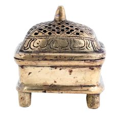 Brass Jali Box Incense Burner With A long handle
