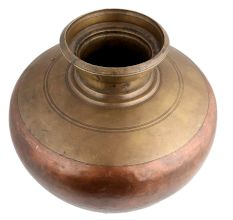 Brass Copper Ganga Jamuna Water Pot