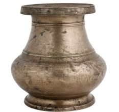 Brass Water Pot Round Base WIth Thick Rim
