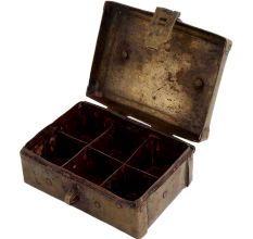 Brass Rectangular Six Compartment Box