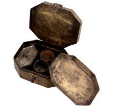 Brass Multi Compartment Box Betel Nut Paandan