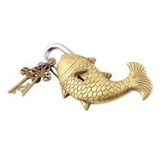 Golden Design Fish Lock with Twin Keys