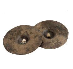 Two Round Manjeere Musical Instrument in Bell Metal