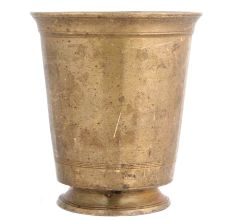 Brass Tumbler Water Glass With Circular Base