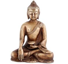 Brass Sitting Meditating Gautam Budhha Statue
