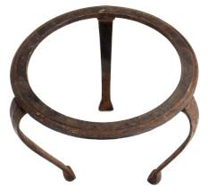 Three Legged Brass Ring In Centre Stand