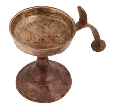 Brass Worship Diya with Cobra Head Stand