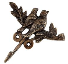 2 Birds on a Tree Bronze Hooks