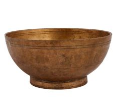 Vintage Brass Bowl Serving Dish