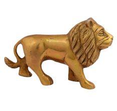 Brass Metal Figurine Standing Lion For Decoration