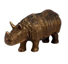 Golden Brass Wild Hippopotamus Statue