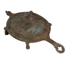 Brass Turtle Shaped Indian Grater for Cheese and Coconut