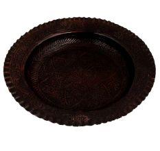 Vintage Copper Plate Engraved Floral Design