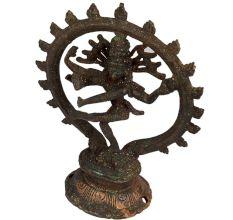Brass Natraja Statue With Decorative Arch