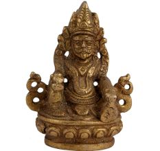 Small Handmade Brass Kuber Idol For Home Puja