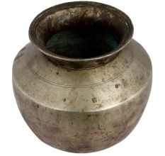 Brass Water Pot Bulging Centre And Small Mouth