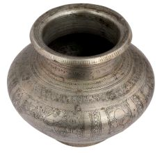 Brass Water Pot With Engraved With Indian God Images
