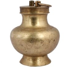 Brass Holy Water Pot Or Kamandal with Cap