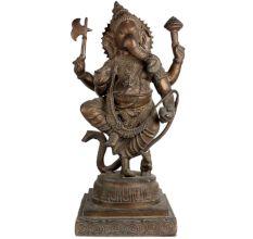 Brass Standing Ganesha Statue