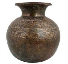 Big Round Base Brass Water Pot