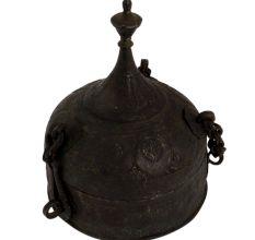 Brass Dome Lid Finial Jewelry Box