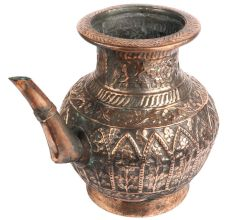 Copper Floral Engraved Islamic Style Holy Water pot