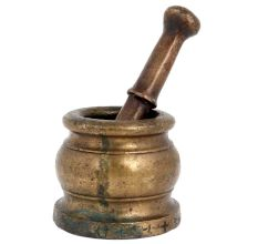 Brass Mortar And Pestle Set