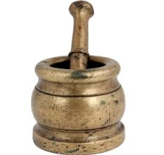 Brass Mortar And Pestle Masala Spice Herbs Masher