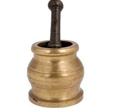 Brass Mortar And Pestle Kitchen Okhli Masher