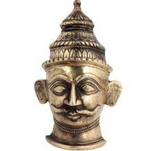 Lord Shiva Head Mukhalingam Brass Statue