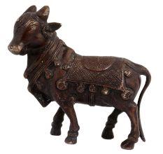 Brass Standing Decorative Nandi Statue