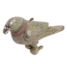 Brass Standing Statue Of Parrot For Hanging And Decoration