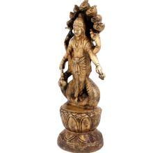 Brass Lord Vishnu Statue Or Idol Under Anant Naag