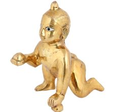 Brass Ladoo Gopal Statue Or Krishna As a Child Statue