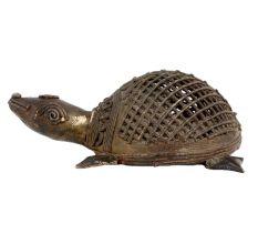 Brass Tribal Turtle Tortoise Statue