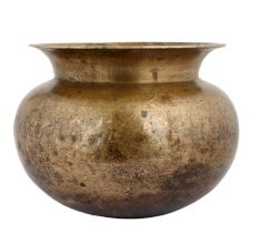 Brass Hindu Worship Water Pot Round Shape